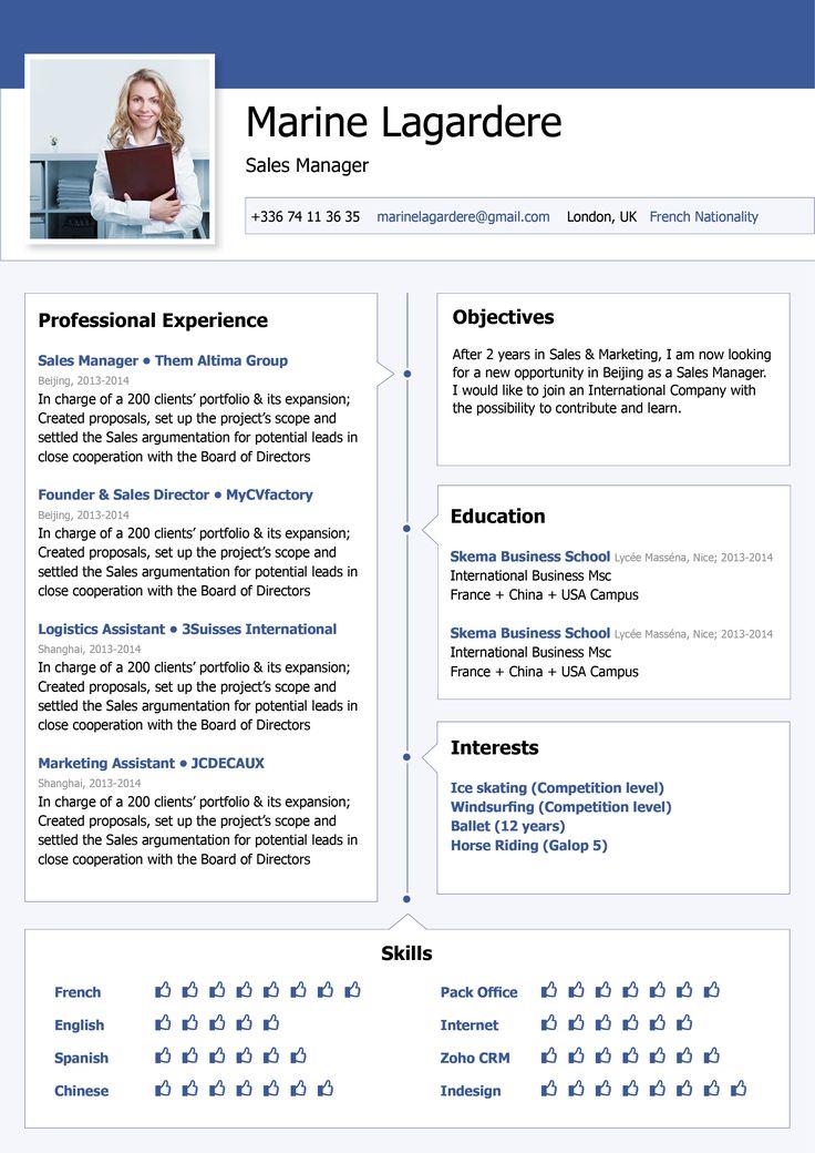 Functional resume template Facebook Resume · myCVfactory