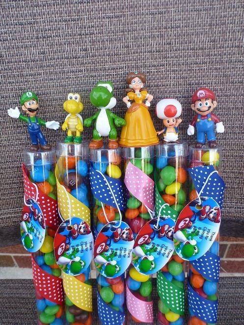 Super Mario Bros birthday party favorsBirthday Party Favors, Birthday Parties, Super Mario Brother, Parties Favors, Parties Ideas, Mario Parties, Bros Birthday, Birthday Favors, Super Mario Bros