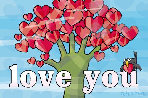 """Gratis e-card: """"Love you"""""""