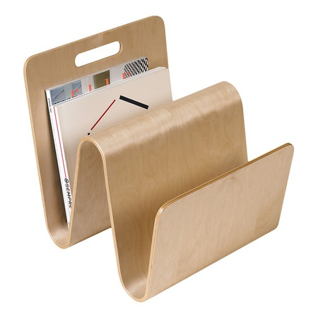 Birch magazine rack with a molded design.   Product: Magazine rackConstruction Material: PlywoodColor: