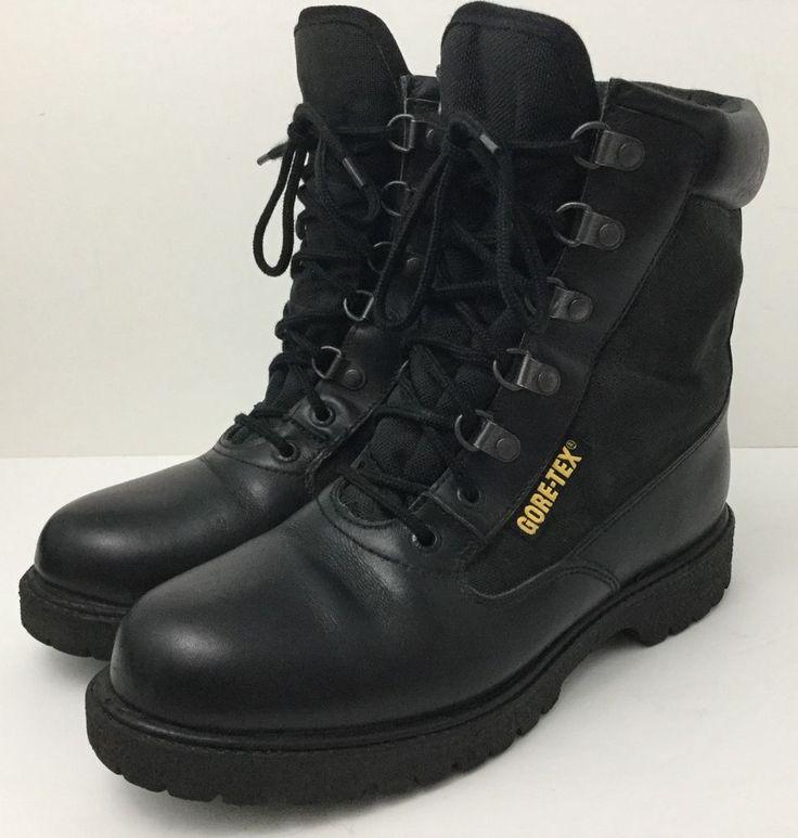 ROCKY Combat Boots Eliminator2 Women's Black Leather Cordura Goretex 4044 US 8.5 #Rocky #CombatBoots