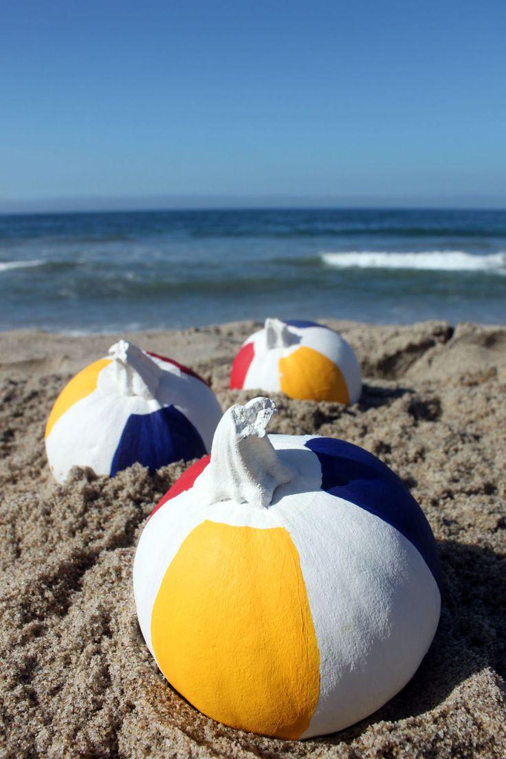 Beach Ball Pumpkins - CountryLiving.com