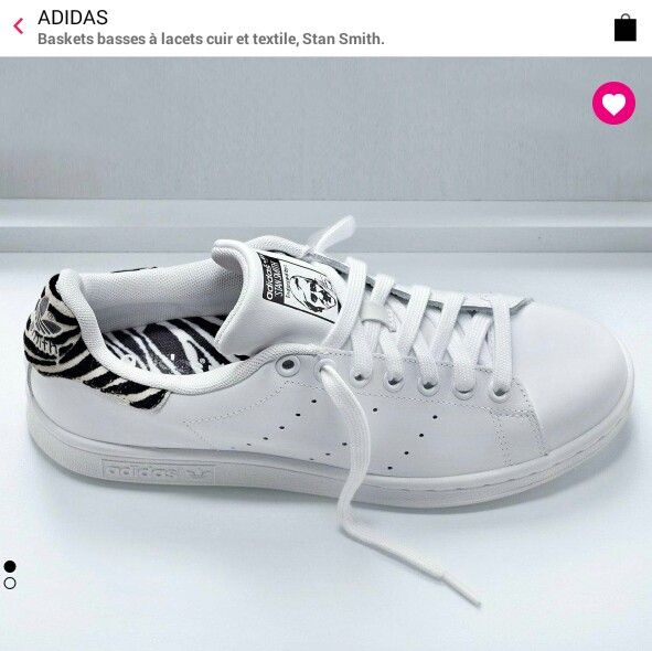 stan smith adidas zebre la redoute whowhatwear shoes pinterest stan smith and adidas. Black Bedroom Furniture Sets. Home Design Ideas