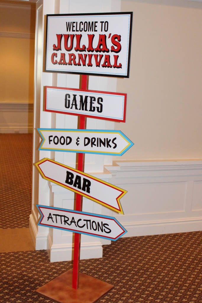 Carnival Themed Signage - BAT MITZVAHS