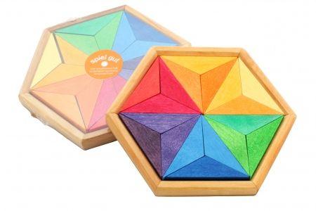 Puzzle créatif en bois Grimm's - Puzzle Etoile