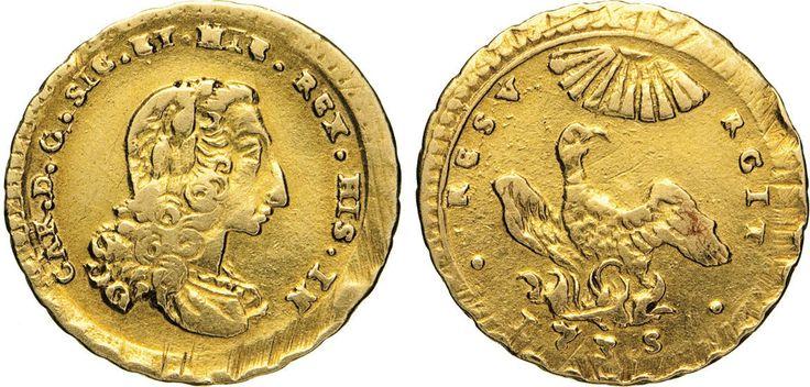 NumisBids: Numismatica Varesi s.a.s. Auction 65, Lot 529 : PALERMO - CARLO DI BORBONE (1734-1759) Oncia d'oro 1735. Sp....