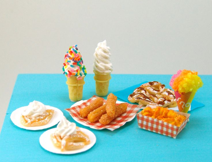 The Mouse Market - Dollhouse Miniature Carnival Foods Tutorial- Miniature Food Tutorial eBook - Cooking School Series, $19.00 (http://www.themousemarket.com/dollhouse-miniature-carnival-foods-tutorial-miniature-food-tutorial-ebook-cooking-school-series/)