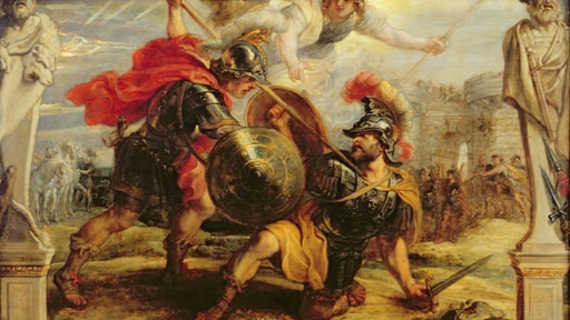 an analysis of the topic of the conflicts between achilleus and agamemnon Get an answer for 'why does a conflict take place between agamemnon and achilles in the iliad ' and find homework help for other iliad questions at enotes.