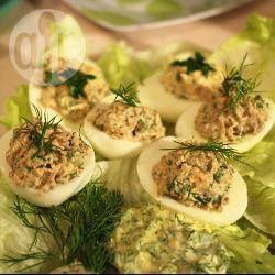 Jajka faszerowane pieczarkami @ allrecipes.pl