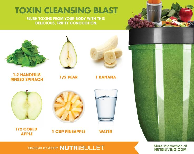 Toxin Cleansing Blast - Nutribullet I don't know much about toxin cleansing, but…