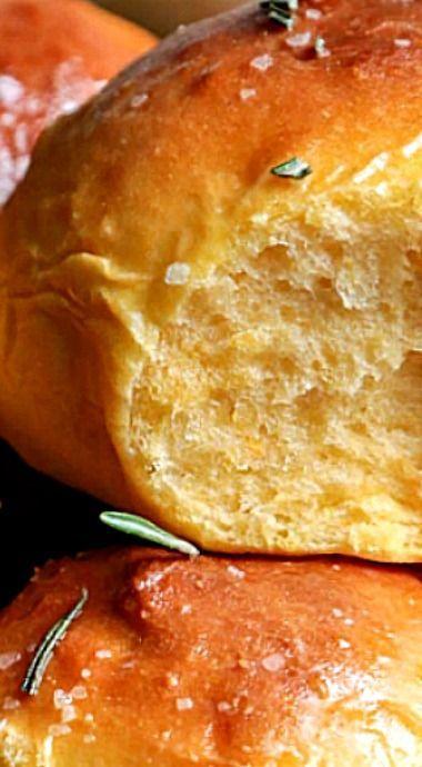 Rosemary Sea Salt Sweet Potato Rolls | Recipe