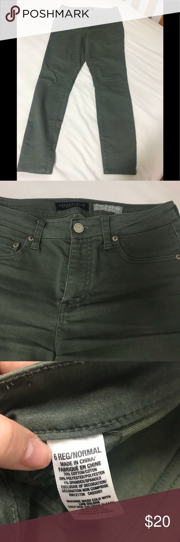 Olive green high waisted skinny jeans Olive green high waisted skinny jeans Aeropostale Jeans Skinny