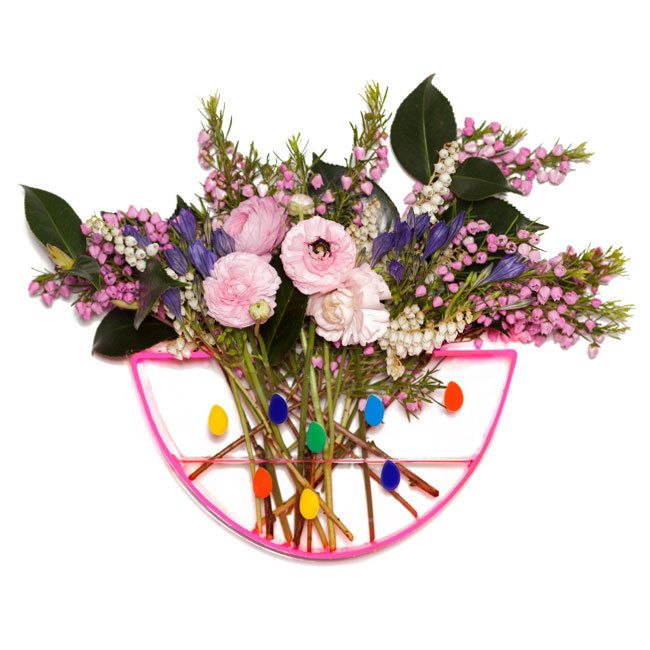 Image of Confetti Days pink/clear watermelon vase