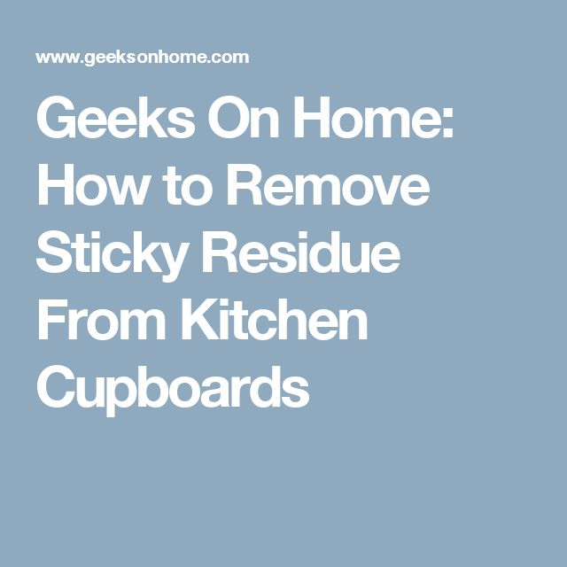 how to get rid of sticky label residue