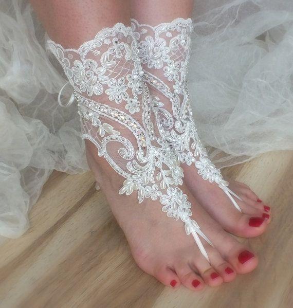 SANDALET / / plaj ayakkabı, ÜCRETSİZ GEMİ Benzersiz tasarımı, gelinlik sandalet, kement sandalet, düğün gelinlik, fildişi aksesuarlar, giysisi, yaz