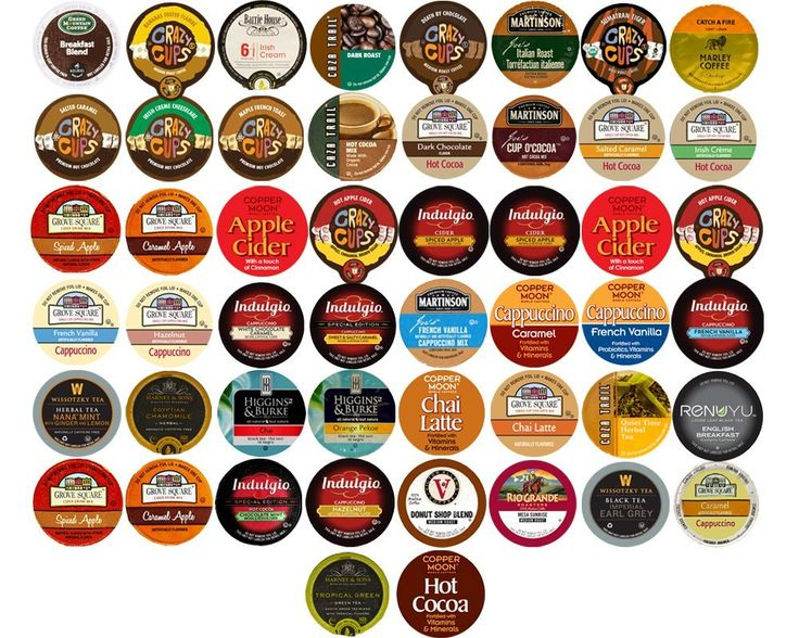 50-count COFFEE, HOT COCOA, CAPPUCCINO and  TEA Single Serve Cups for Keurig K Cup Brewers Variety Pack Sampler * Quickly view this special product, click the image : K Cups