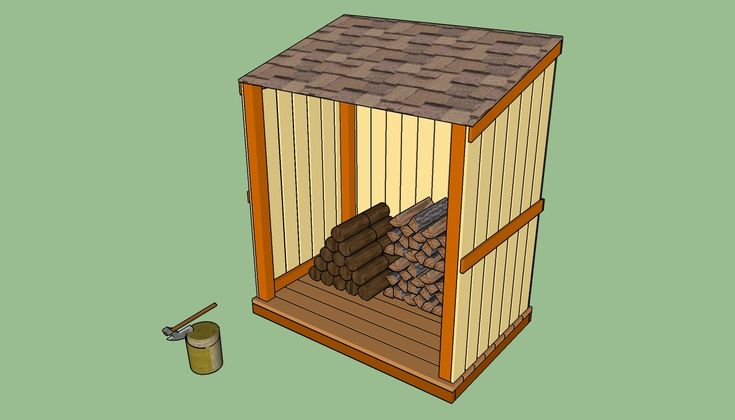Simple firewood shed pinteres for Home made sauna designs