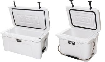 The Yeti is the fact that they use two inches of polyurethane foam in the cooler body and three inches in the lid. That way it provides superior insulation. On the inside they have a dry goods rack that prevents soggy sandwiches. Believe me there is nothing worse than eating a soggy sandwich.
