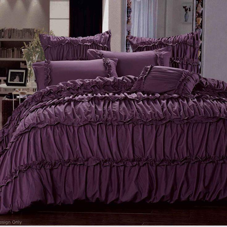 17 best ideas about purple bedding sets on pinterest purple and grey bedding purple gray - Bedlinnen aubergine ...