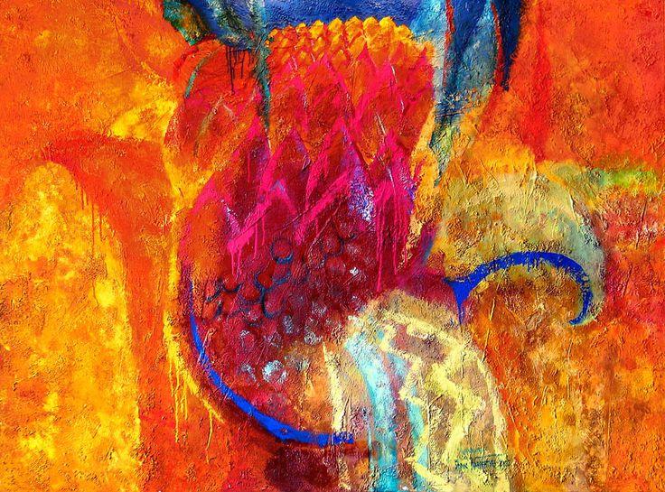 """CARTHAGE"" , relief pastes, acrylic on canvas, 195x150 cm.  ""КАРФАГЕН"" , холст, рельефные пасты, акрил, 195х150 см. more - http://lauren.ru/ru/pics/gallery/goroda/id_90.html?task=view"