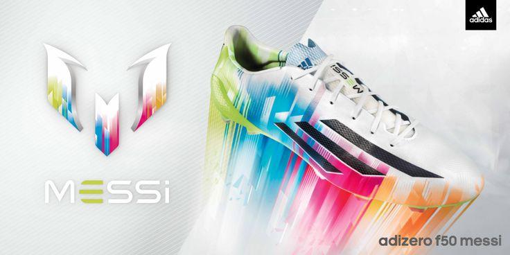 Lionel Messi et ses chaussures fluo, les Adidas adizero F50