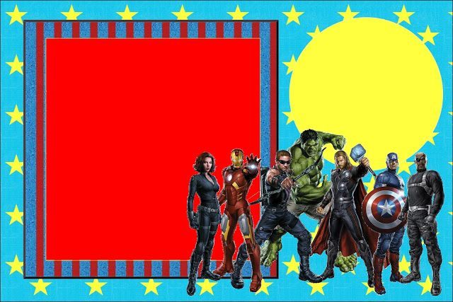 Avengers Free Printable Invitations. Check out the whole set! :)