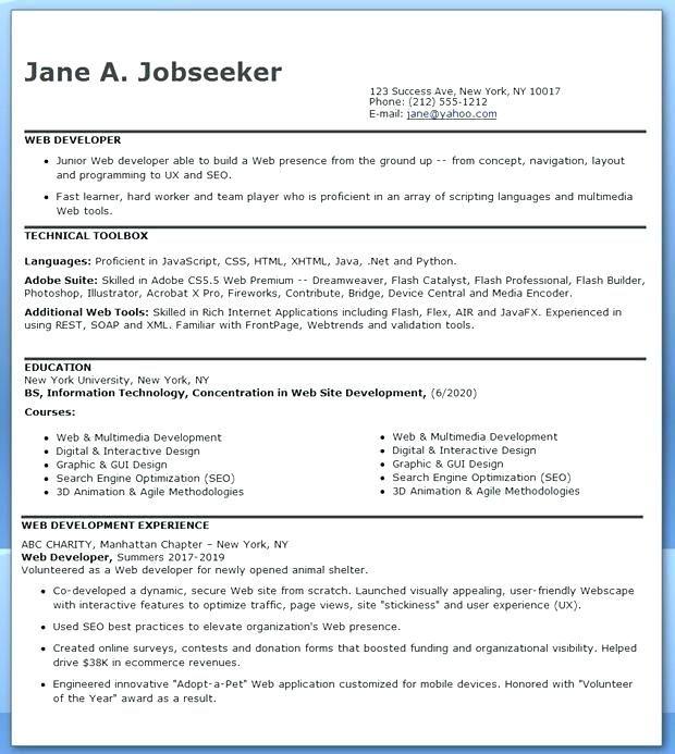 Software Developer Sample Resume Click Image For More Lebenslauf Vorlagen Resume Resumeexa Web Developer Resume Engineering Resume Resume Design Creative