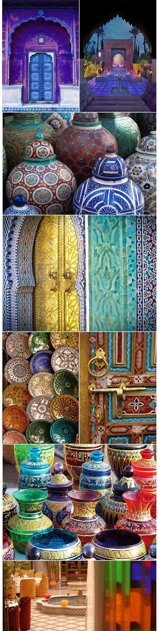 Do Marrocos para casa  Mosaicos, cerâmicas, mandalas, madeiras entalhadas, tapetes e artigos artesanais. Mergulhe na cultura do Marrocos e deixe sua casa ainda mais aconchegante. Aposte em peças com riqueza de detalhes e tons vibrantes de azul, vermelho, amarelo e verde. http://decoradorabile.com.br/do-marrocos-para-casa/