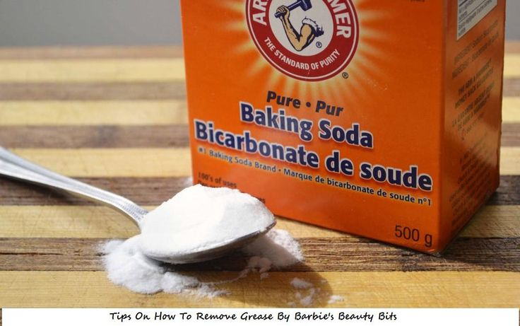 Remove hamburger, Bacon and other types of  grease from your clothes, with baking soda, by Barbie's Beauty Bits