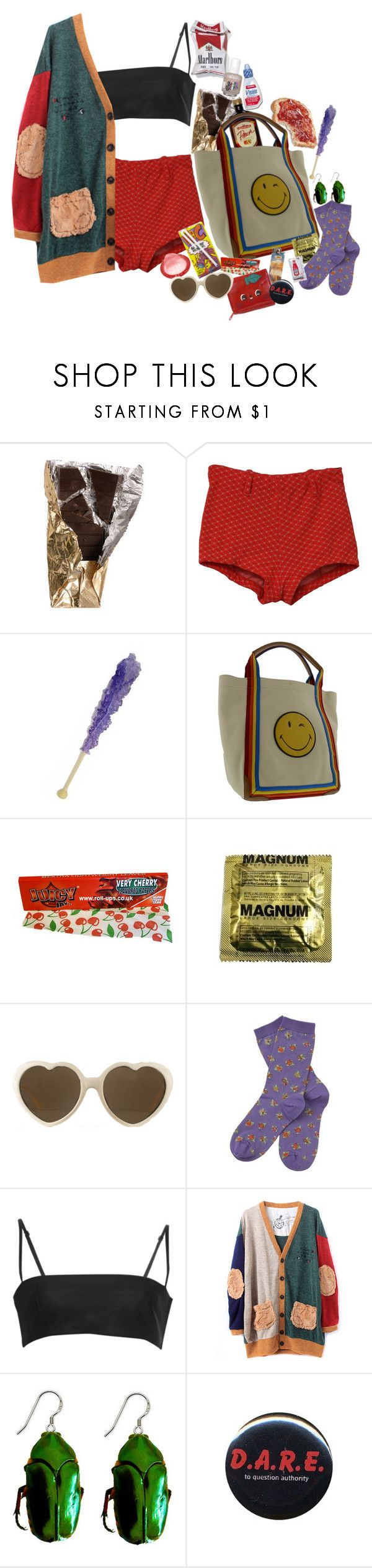 """""""VACATION WITH YOUR SHlTTY FAMILY"""" by nymphdreams ❤ liked on Polyvore featuring Care Label, Anya Hindmarch, RETROSPECS, Barbour, Alexander Wang, Coccinelle and Ultimate"""