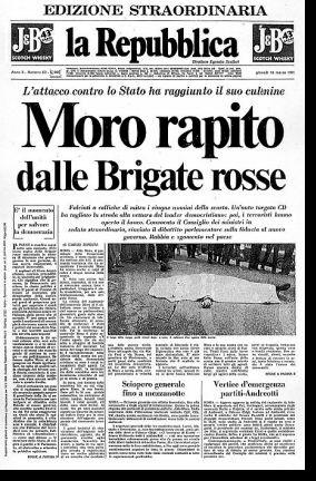 La Repubblica: Aldo Moro rapito dalle Brigate Rosse