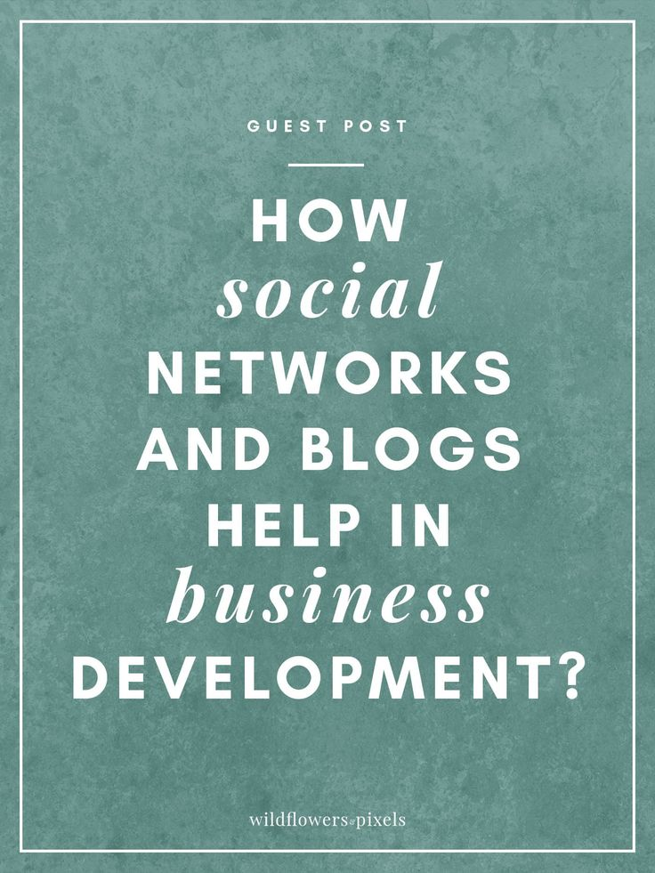 How Social Networks And Blogs Help In Business Development? via @wildflowerspix