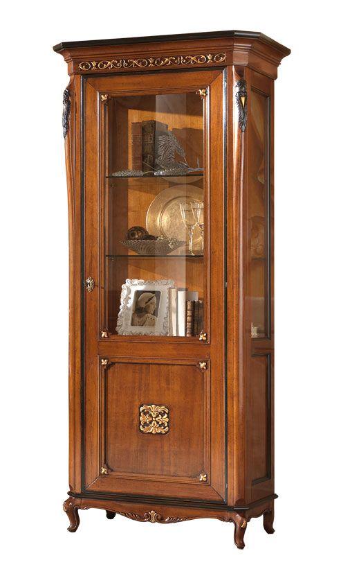 Vetrina a classic world arteferretto mobile vetrina classico vetrina in legno