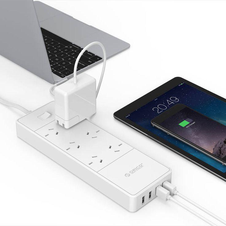 ORICO 6 AC Outlets 4 USB Ports Surge Protector (OSD-6A4U-AU)