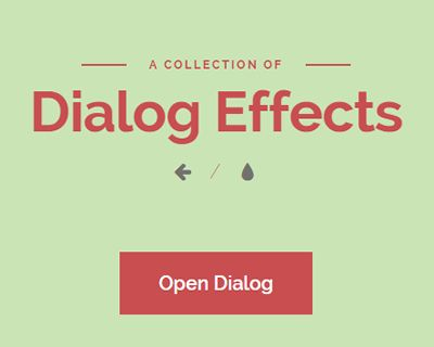 inspiration for dialog effects