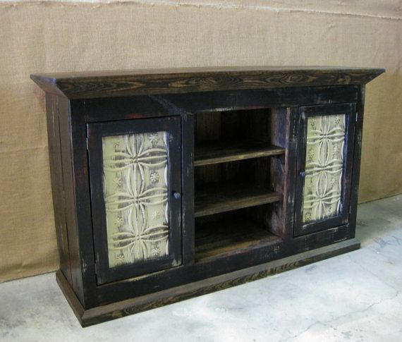 Distressed Media Console / TV Cabinet with by ZacoCreations, $995.00