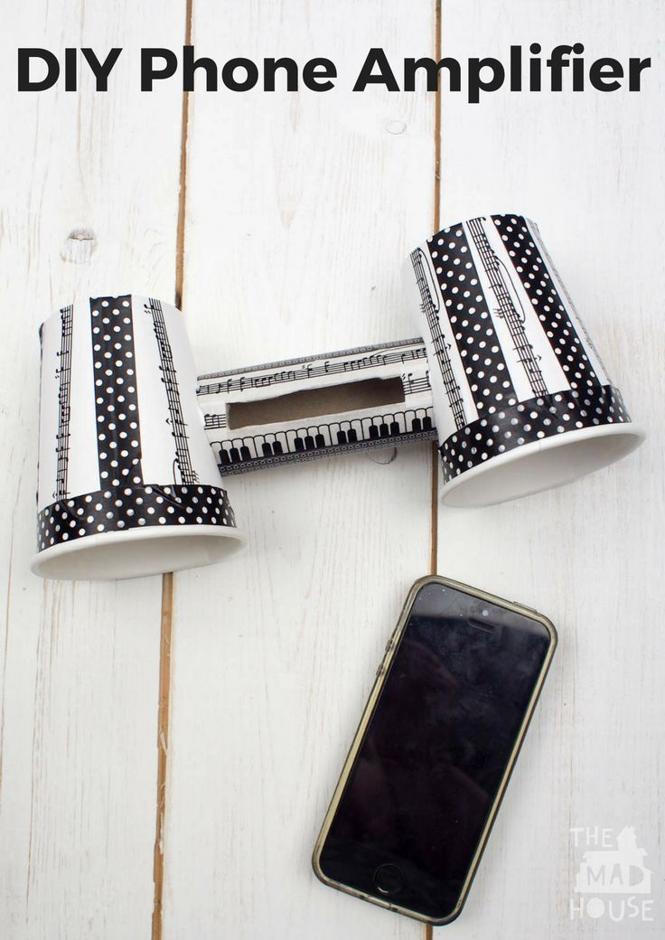 How to make a DIY phone amplifier and stand. Tutorial for wire free and cheap speakers for your phone that work. A great tween craft.