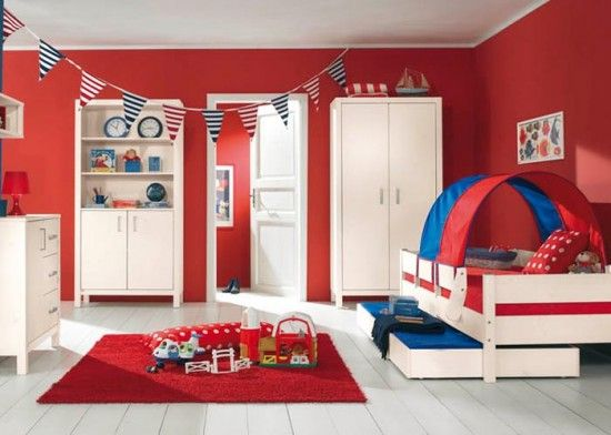 Bedroom Colors Blue And Red 99 best red kids room decor images on pinterest | kids rooms decor