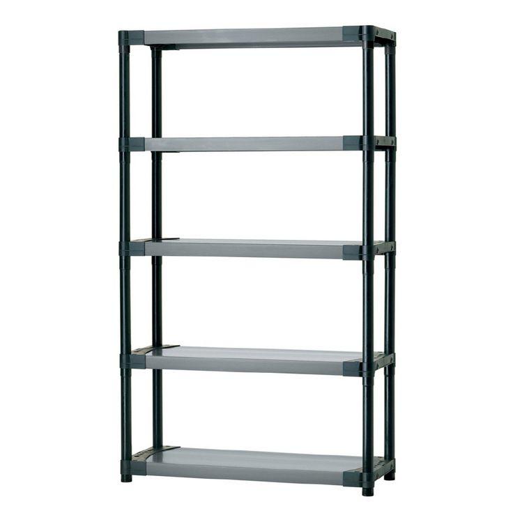 blue hawk h x w x d plastic shelving unit for basement storage overflow of pantry dishes serving pcs