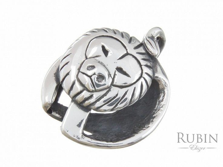 Antikolt oroszlán horoszkóp ezüst medál