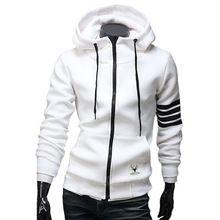 2015 nuevos hombres con capucha marca Sports Suit alta calidad de hombre sudadera con capucha con cremallera Casual chaquetas con capucha para hombre M-3XL sudaderas hombre(China (Mainland))