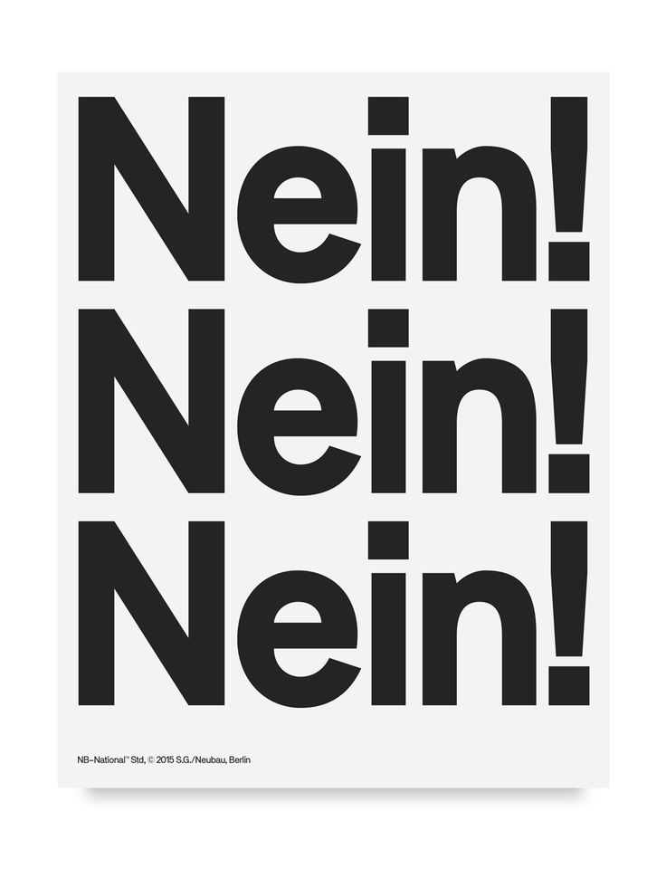 NB-National™ Std is a constructed sans-serife type system designed by Stefan Gandl. Taking a strong influence in form from it's International™ counterpart NB-National™ is a more distinctive and refined follower inspired by the studio homegrown Berlin influences. Paying tribute to late 19th century grotesques NB-National™ is also defined by a space-saving characteristic when applied in layouts.