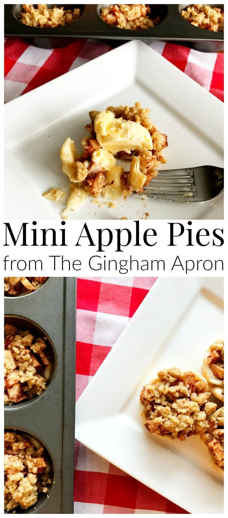 Mini Apple Pies- a fun and easy way to enjoy the best of fall's apples. #applepie #fall