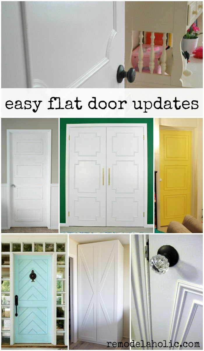 Easily update flat doors with molding -- lots of different styles and inspiration! @Remodelaholic