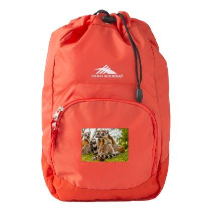 male lemur hugs his female High Sierra Backpack Backpack - animal gift ideas animals and pets diy customize