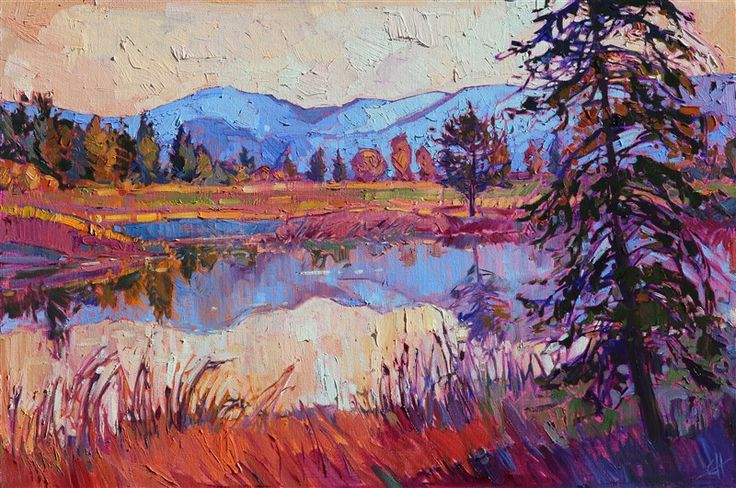 Montana Reflective - Contemporary Impressionism | Landscape Oil Paintings for Sale by Erin Hanson