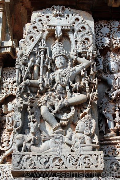 ANDHAKASURAVADHA. Andha is demon who represents darkness so Shiva killing him. It means that Lord Shiva removes darkness and brings light into our lives. Shiva in the form of Nataraja is dancing on demon Andakasura who is on bottom right of pic.
