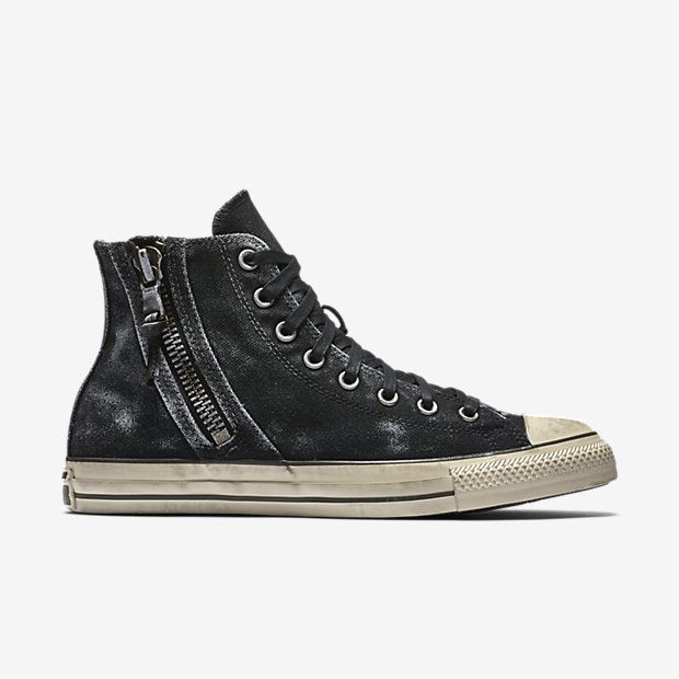 edcb6911aa00 ... Converse x John Varvatos Chuck Taylor All Star Side Zip High Top Unisex  Shoe Clothing Pinterest ...