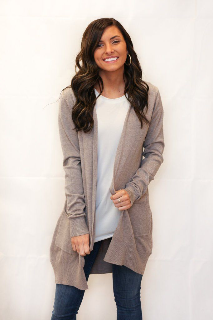 We're Dreaming Double Pocket Cardigan - Mocha