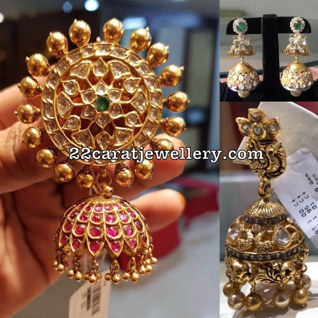 1245 best traditional gold jhumkas collection images on